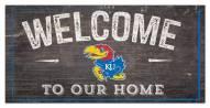 "Kansas Jayhawks 6"" x 12"" Welcome Sign"