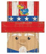 "Kansas Jayhawks 6"" x 5"" Patriotic Head"