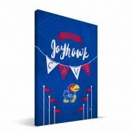 "Kansas Jayhawks 8"" x 12"" Little Man Canvas Print"