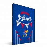 "Kansas Jayhawks 8"" x 12"" Little Man Canvas Print"
