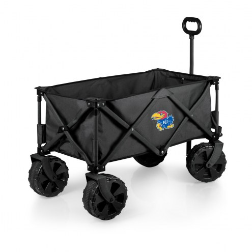 Kansas Jayhawks Adventure Wagon with All-Terrain Wheels
