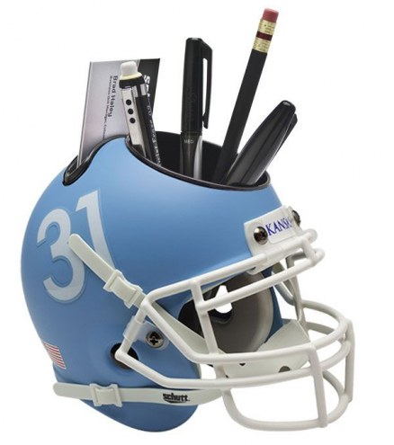 Kansas Jayhawks Alternate 2 Schutt Football Helmet Desk Caddy