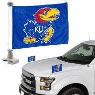 Kansas Jayhawks Ambassador Hood & Trunk Car Flag