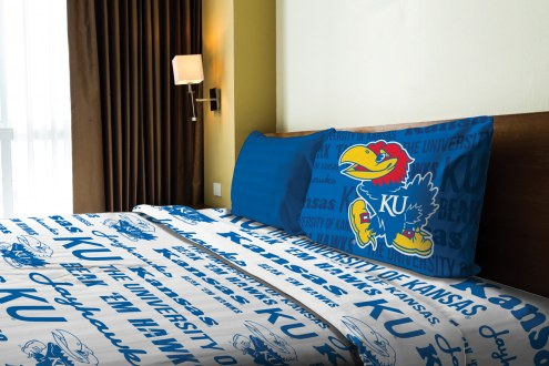 Kansas Jayhawks Anthem Twin Bed Sheets