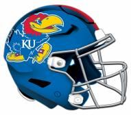 Kansas Jayhawks Authentic Helmet Cutout Sign