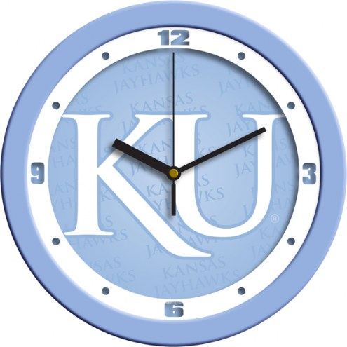 Kansas Jayhawks Baby Blue Wall Clock
