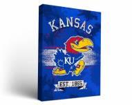 Kansas Jayhawks Banner Canvas Wall Art