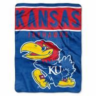 Kansas Jayhawks Basic Plush Raschel Blanket