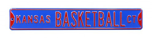 Kansas Jayhawks Basketball Street Sign