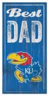 Kansas Jayhawks Best Dad Sign