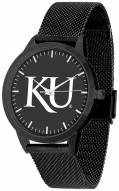 Kansas Jayhawks Black Dial Mesh Statement Watch