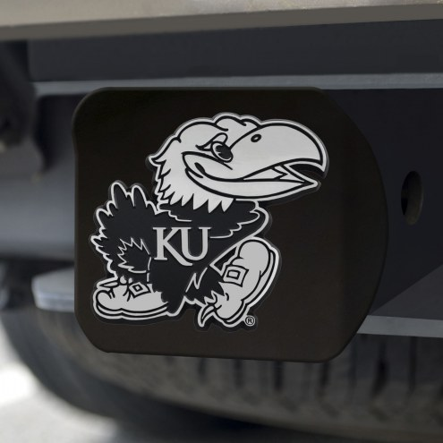 Kansas Jayhawks Black Matte Hitch Cover