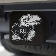 Kansas Jayhawks Black Matte Hitch Cover