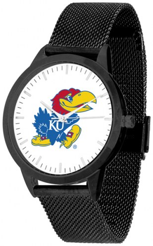 Kansas Jayhawks Black Mesh Statement Watch