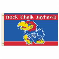 Kansas Jayhawks Rock Chalk Premium 3' x 5' Flag