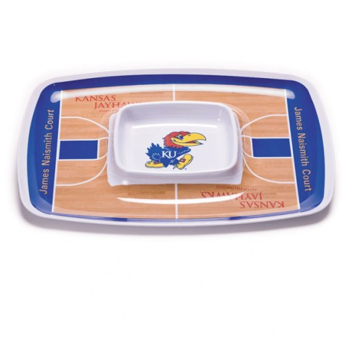 Kansas Jayhawks Chip & Dip Tray