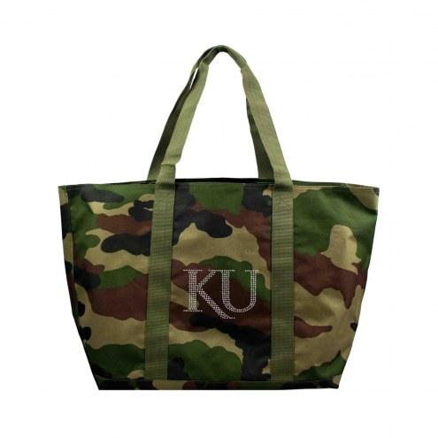 Kansas Jayhawks Camo Tote Bag