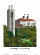 Kansas Jayhawks Campus Images Lithograph
