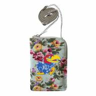 Kansas Jayhawks Canvas Floral Smart Purse