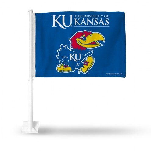 Kansas Jayhawks College Car Flag