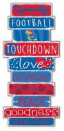 Kansas Jayhawks Celebrations Stack Sign