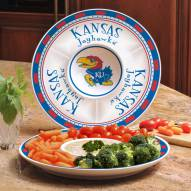 Kansas Jayhawks Ceramic Chip and Dip Serving Dish