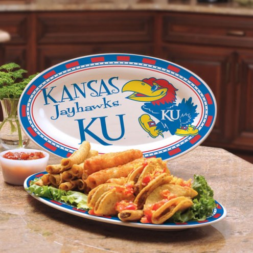 Kansas Jayhawks Ceramic Serving Platter