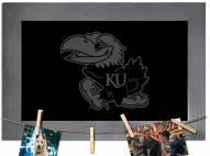 Kansas Jayhawks Chalkboard with Frame