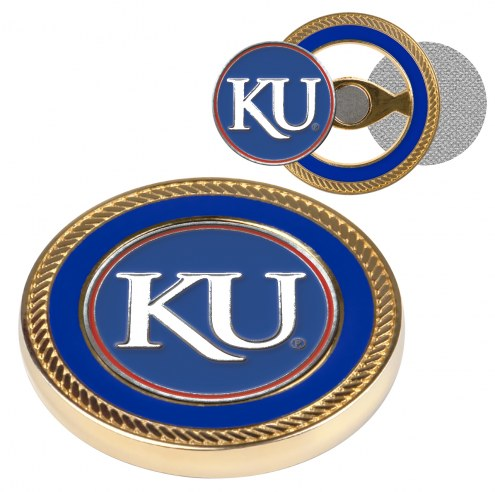 Kansas Jayhawks Challenge Coin with 2 Ball Markers