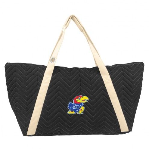 Kansas Jayhawks Chevron Stitch Weekender Bag