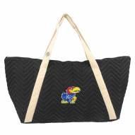 Kansas Jayhawks Chevron Stitch Weekender Bag