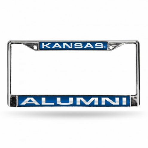 Kansas Jayhawks Chrome Alumni License Plate Frame