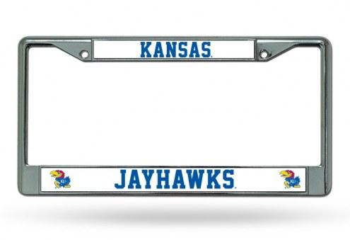 Kansas Jayhawks Chrome License Plate Frame