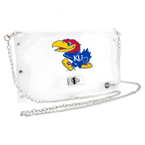 Kansas Jayhawks Clear Envelope Purse