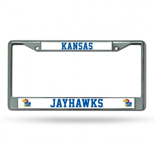 Kansas Jayhawks College Chrome License Plate Frame