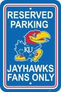 Kansas Jayhawks College Parking Sign