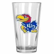 Kansas Jayhawks College 16 Oz. Pint Glass 2-Piece Set