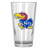 Kansas Jayhawks College 16 Oz. Pint Glass 2-Piece Set