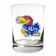Kansas Jayhawks College 2-Piece 14 Oz. Rocks Glass Set