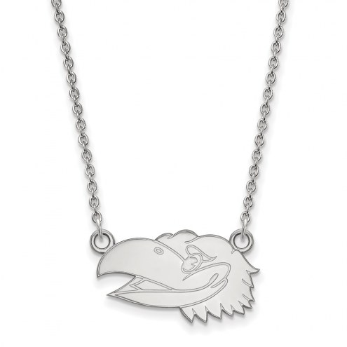 Kansas Jayhawks Sterling Silver Small Pendant Necklace