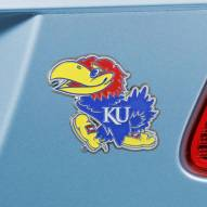 Kansas Jayhawks Color Car Emblem