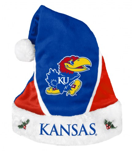 Kansas Jayhawks Colorblock Santa Hat