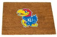 Kansas Jayhawks Colored Logo Door Mat