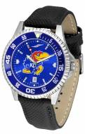 Kansas Jayhawks Competitor AnoChrome Men's Watch - Color Bezel