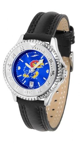 Kansas Jayhawks Competitor AnoChrome Women's Watch