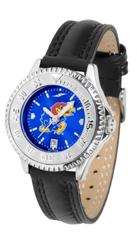 Kansas Jayhawks Competitor AnoChrome Women's Watch
