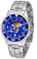 Kansas Jayhawks Competitor Steel AnoChrome Color Bezel Men's Watch