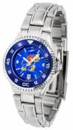 Kansas Jayhawks Competitor Steel AnoChrome Women's Watch - Color Bezel