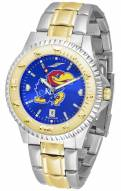 Kansas Jayhawks Competitor Two-Tone AnoChrome Men's Watch