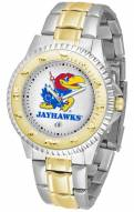 Kansas Jayhawks Competitor Two-Tone Men's Watch
